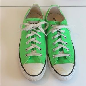 Converse neon green women's size 10